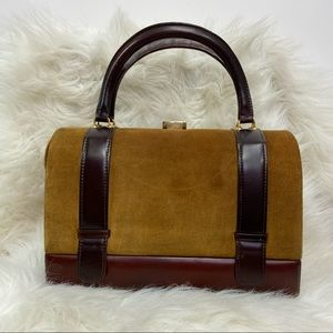 Tano Madrid Purse Suede & Leather Doctor Style Bag